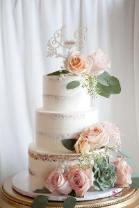 3 Tiers Semi Naked Wedding Cake